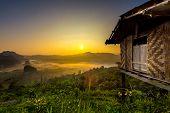 Doi Phulangka at sunrise Province Phayao