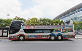 Double-decker City Sightseeing Bus In Busan, Korea