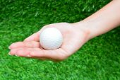 Golf Ball In The Hand
