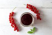 Currant Jam In A Jar
