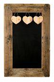 stock photo of wooden pallet  - Happy Valentine - JPG