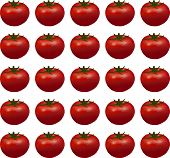 seamless background of red ripe tomatoes