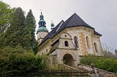 foto of neglect  - Old ruined and neglected church Adrspach  - JPG