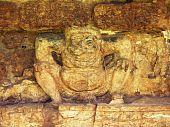 stock photo of midget  - Ancient midget statue in srithep phetchabun thailand - JPG