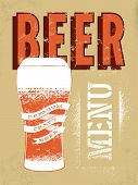 foto of drawing beer  - Beer menu design - JPG