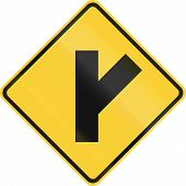 stock photo of intersection  - United States road warning  - JPG