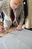 foto of tailoring  - Real tailor in a small town near Assisi in Italy - JPG
