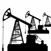 stock photo of jacking  - Oil pump jack - JPG