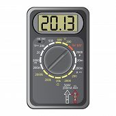 picture of  multimeter  - 2013 New Year Multimeter on a white background vector - JPG