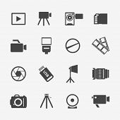 pic of  photo  - Camera and photo icons - JPG