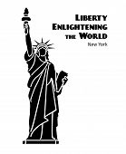 picture of statue liberty  - Statue of Liberty black isolated silhouette - JPG