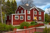 image of shadoof  - The typical swedish wooden house in stockholm - JPG