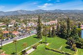 picture of city hall  - View from Santa Barbara city hall tower  - JPG