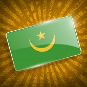 picture of civil war flags  - Flag of Mauritania with old texture - JPG