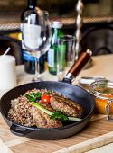 picture of buckwheat  - Restourant serving dish  - JPG