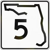 pic of state shapes  - US state highway shield Florida - JPG