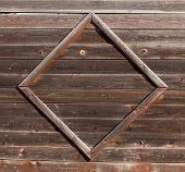 stock photo of wooden fence  - Fragment of wooden garden fence - JPG
