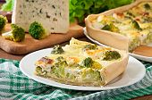 picture of lenten  - Tasty Quiche with broccoli and feta cheese  - JPG