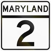 image of maryland  - United States State Highway shield Maryland 2 - JPG
