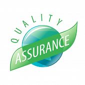 Round Vector Logo Quality Assurance poster