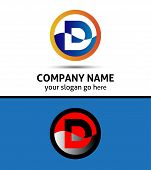 foto of letter d  - Abstract icon logo for letter D vector - JPG