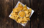 foto of nachos  - Nachos with Cheese Sauce  - JPG