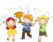 picture of victory  - Illustration of a Group of Kids Celebrating Their Victory - JPG