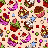 pic of cupcakes  - Collection of six cupcakes - JPG
