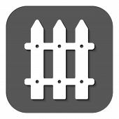 picture of pale  - The fence icon - JPG