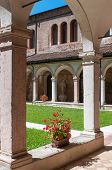 foto of vicenza  - The internal cloister of the gothic Saint Lorenzo church in Vicenza - JPG