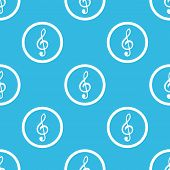 stock photo of treble clef  - Image of treble clef in circle - JPG