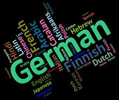 stock photo of dialect  - German Language Meaning Translator Words And Wordcloud - JPG