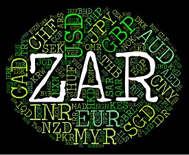 picture of zar  - Zar Currency Showing South Africa Rand And South African Rands - JPG
