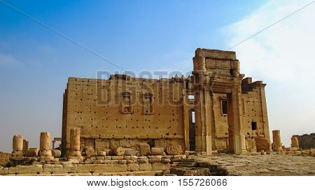 Destroyed temple of