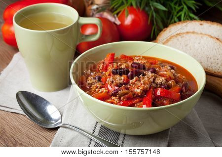 Stew Of Meat And Vegetables.