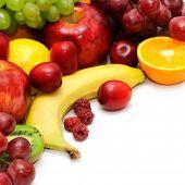 Постер, плакат: Свежие фрукты изолированные на белом фоне