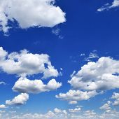 image of blue sky  - clouds in the blue sky - JPG