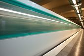 pic of gare  - Paris Metro passing a station near Gare du Nord - JPG