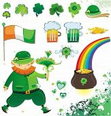 St. Patrick's Day design elements. To see similar design elements, please visit my gallery