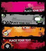 picture of emo  - Grunge stylish banners 1 - JPG