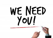 We Need You!  Figure Pointing With Finger To You poster