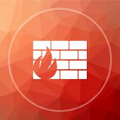 Firewall Icon poster