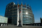 Front view on the European Parliament