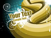 golden party wave vector design with space for text