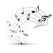 vector music note background illustration