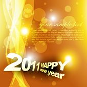 new year design on golden style background