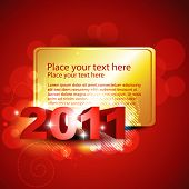 vector shiny new year template design