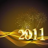 new year 2011 vector background