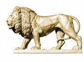 Lion Statue 3, Gold