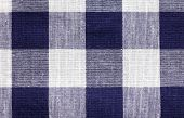 Blue White Checkered Fabric Background